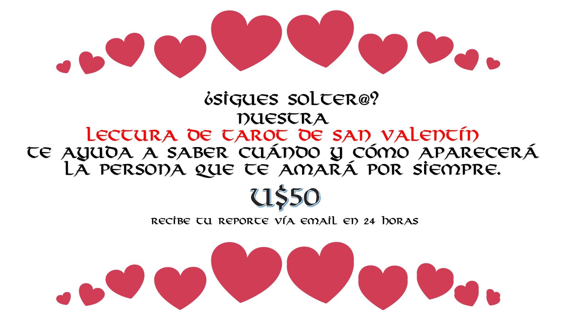 Lectura de Tarot San Valentín 2019